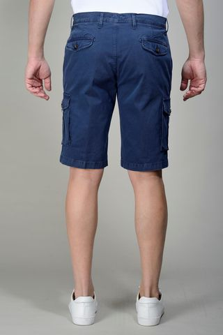 blue bermuda shorts side pockets Angelico