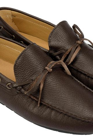 Brown leather car shoes