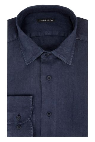 Navy linen shirt Angelico