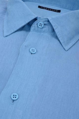 camicia azzurra lino Angelico