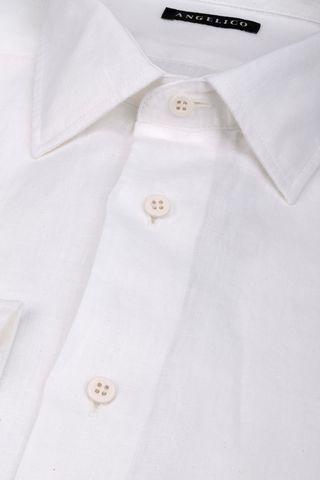 camicia bianca lino Angelico