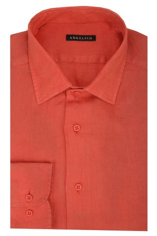 Red linen shirt Angelico