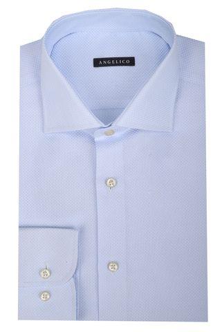 light blue shirt rhombus pattern Angelico