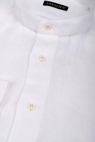 camicia coreana bianca lino Angelico