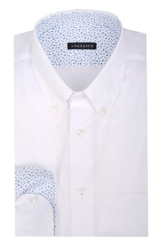 White shirt bd and pocket Angelico
