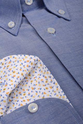 camicia blu bd e taschino Angelico