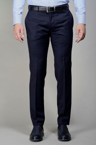 Pantalone blu 100s slim four seasons Angelico