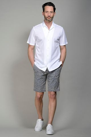 White short sleeves pique shirt Angelico