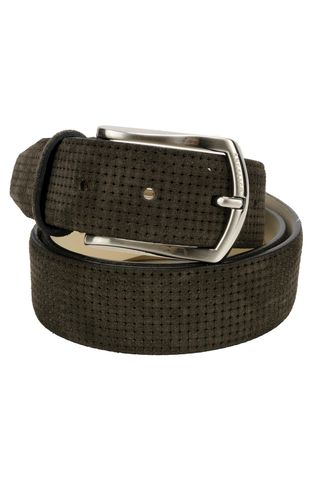brown suede belt printed Angelico
