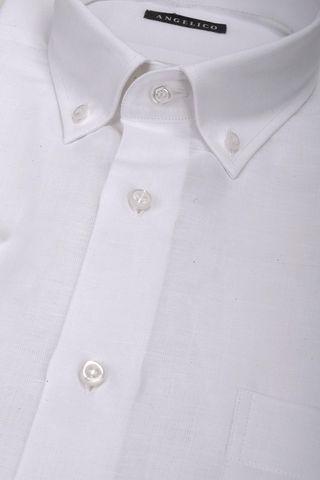 camicia bianca maniche corte bd Angelico