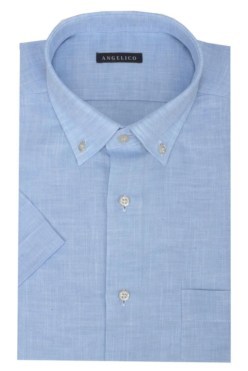 light blue shirt short sleeves bd
