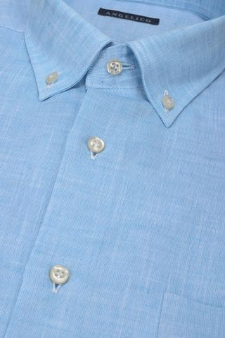 light blue shirt short sleeves bd Angelico