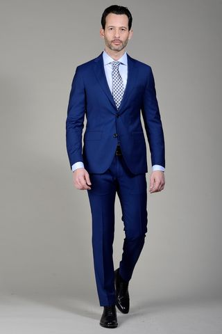 blue suit 100s slim Angelico