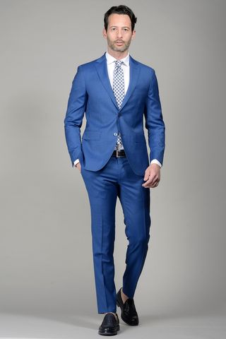 Royal blue suit 100s slim Angelico