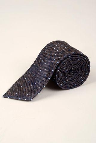 cravatta melanzana pois azzurri medi Angelico