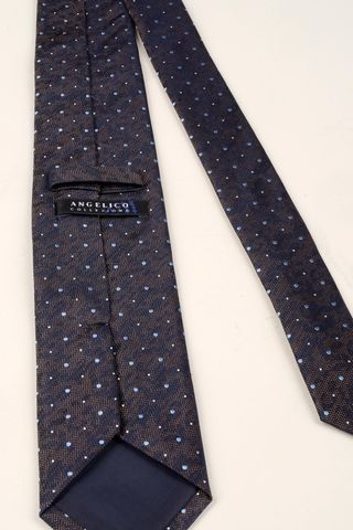plum tie azure medium polka dots Angelico