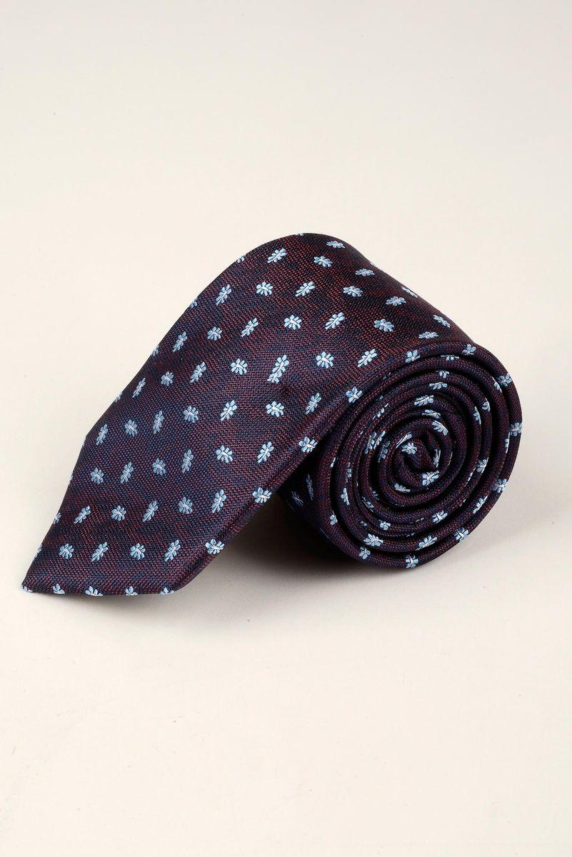 cravatta melanzana fiori azzurri Angelico