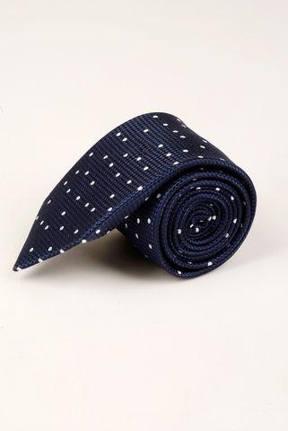 cravatta blu pois bianchi medi Angelico