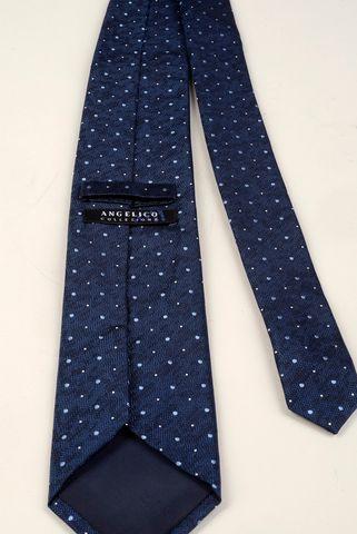 cravatta denim pois azzurri medi Angelico