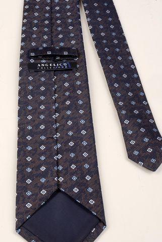 cravatta melanzana rombi azzurri Angelico