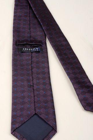 cravatta viola-azzurro jacquard seta Angelico