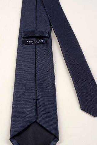 cravatta blu seta operata Angelico