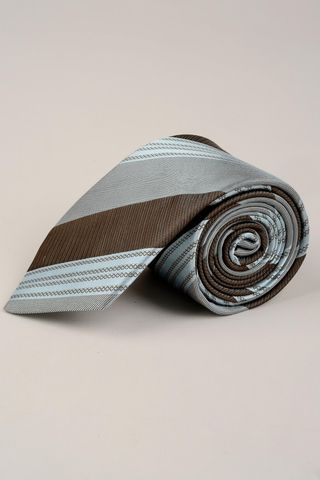 azure-brown tie regimental Angelico