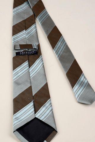 cravatta azzurra-moro regimental seta Angelico