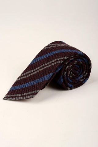 plum-blue tie regimental Angelico