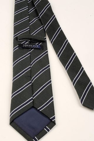 grey-blue tie regimental Angelico