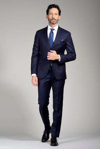 new style a8310 16191 Abito blu sallia slim Angelico