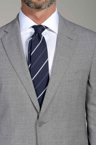 light grey suit stretch slim Angelico