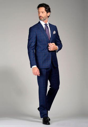 blue suit 100s burgundy squared Angelico