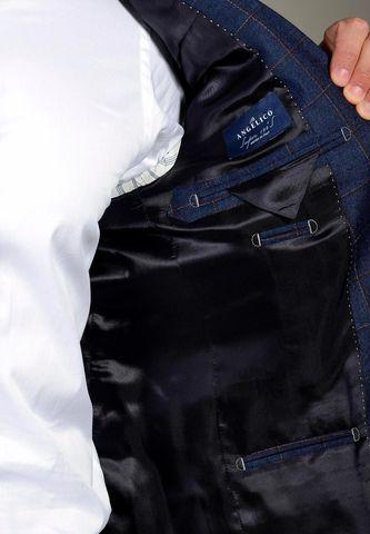 abito blu quadro bordeaux 100s Angelico