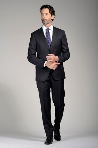 charcoal grey suit regular Angelico