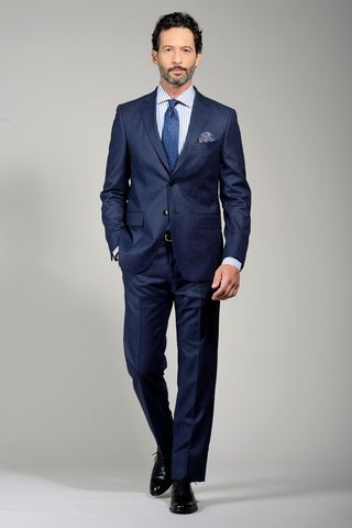 blue suit 100s birdseye Angelico