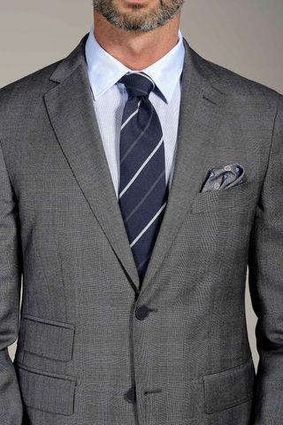 abito grigio galles azzuro 100s slim Angelico