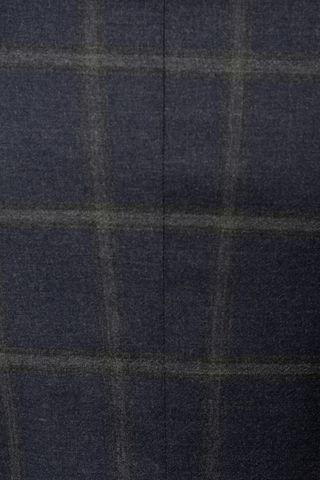 navy suit grey checkered slim Angelico