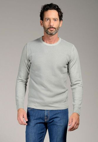 light grey pullover honeycomb fast dyed Angelico
