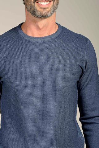 blue pullover honeycomb fast dyed Angelico