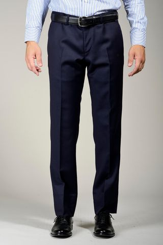 navy wool trousers Angelico