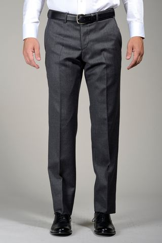 medium grey wool trousers Angelico