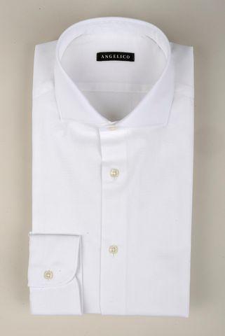 Camicia bianca elasticizzata slim Angelico