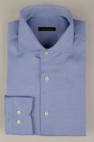 the latest dd2ec 182a3 Camicia blu armatura zigzag NO-STIRO Angelico
