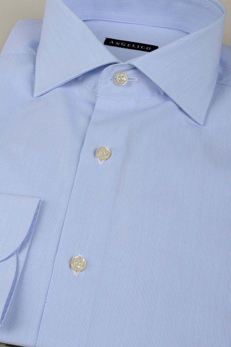camicia azzurra millerighe Angelico