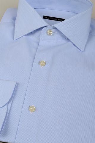 light blue shirt fine stripes Angelico