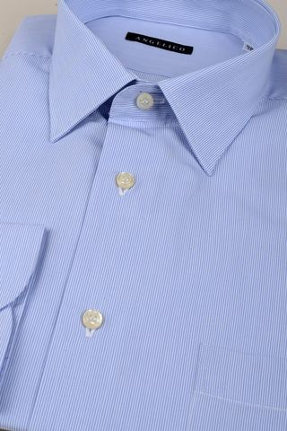 light blue shirt pinstriped comfort Angelico