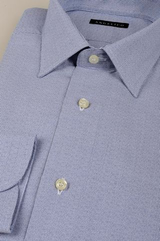 blue shirt fine striped effect slim Angelico