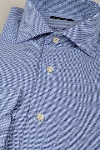camicia bluette armatura virgole slim Angelico