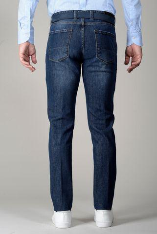 Jeans blu tasche america slim Angelico